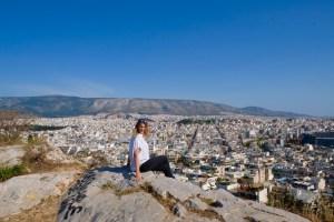vue De la ville blanche depuis la colline de Filopappou