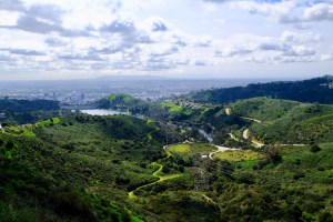 vue sur Los Angeles de wonder view trailhead