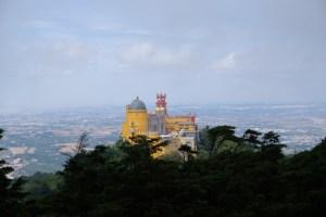 """La vue sur le palais national de Pena depuis """"Cruz Alta"""""""
