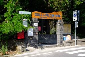 Entrée communales des gorges d'Alcantara