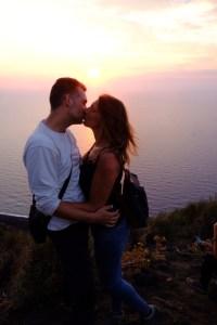 couché du soleil au Stromboli
