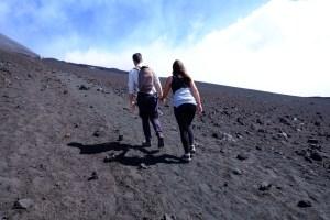 ascension de l'Etna à pieds