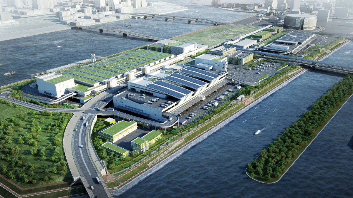 (2017年12月最新版)築地市場搬遷到豊洲市場的延後日期已落實2018年10月11日。2020年奧運後,築地原址計劃興建美食主題樂園。