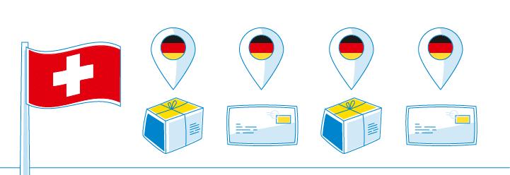 Pakete Briefe Und Warensendungen In Die Schweiz Schicken Lassen