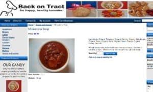 This is a thumbnail/screenshot of the Back on Tract website. Back on Tract is a meal delivery service started by two family members in the food service industry who wanted to help people with autoimmune and other health issues that could be benefitted by going on a grain free diet. They had two children in their family that had to eat a special diet (SCD) and realized how challenging this was with the typical american diet found in most of the United States. I am including Back on Tract in this list because most of their meals qualify as Paleo, just as much as the other Paleo meal delivery services listed in this article. Their ingredients are organic, grain free, sugar free and they deliver all over the country, so I thought it was worth listing them in this roundup of Paleo delivery services, to round out the list. They would be a particularly good option for those living in Massachusetts, such as in their area of Dartmouth Mass (southern Massachusetts).