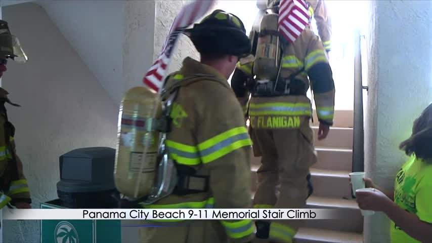 Hundreds of People Climb Stairs to Honor 9-11