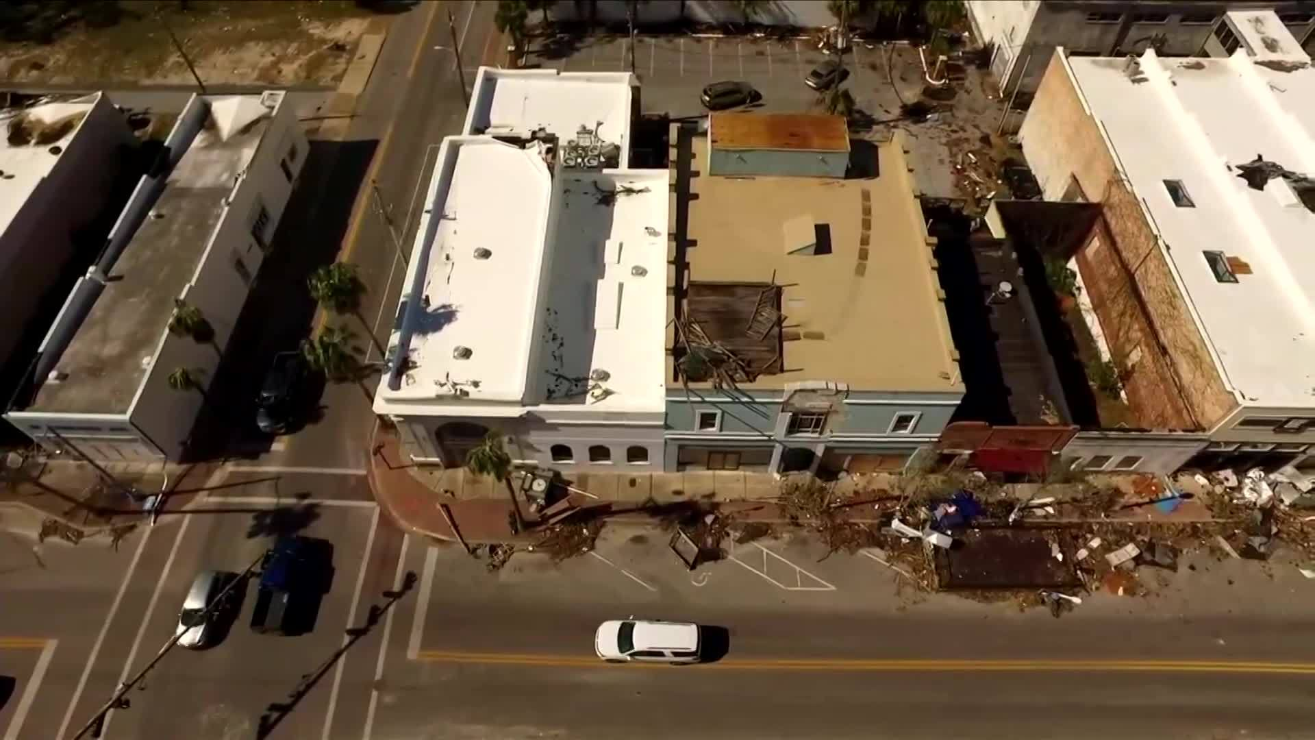 Drone video shows devastation in downtown Panama City