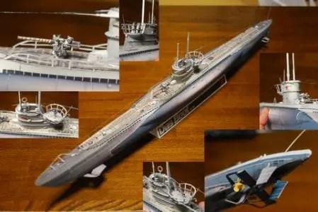 Das Boot U-96 Battleship Paper Model