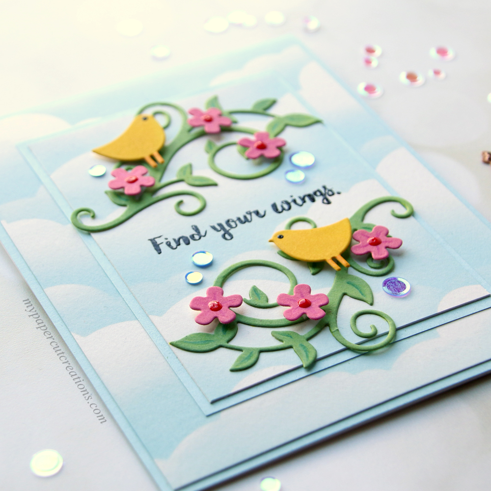 Find Your Wings – Spellbinders Small Die of the Month Kit – My