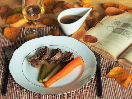 Tendrons de veau aux carottes et au miel