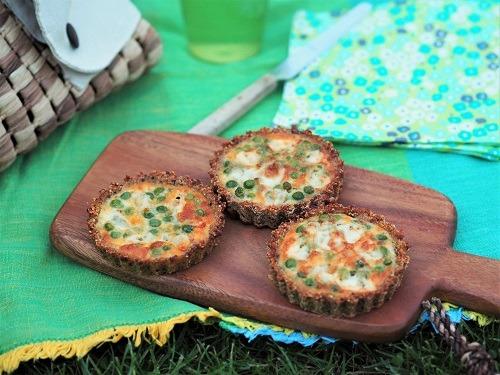 Tartelettes aux petits pois et au fromage de brebis