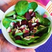Salade de mâche et betterave cuite