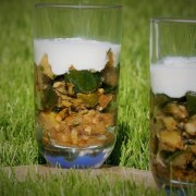 Vermines de courgette au cumin crème de parmesan