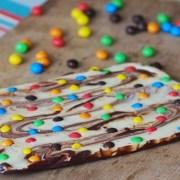 Tablette de chocolat fantaisie aux smarties