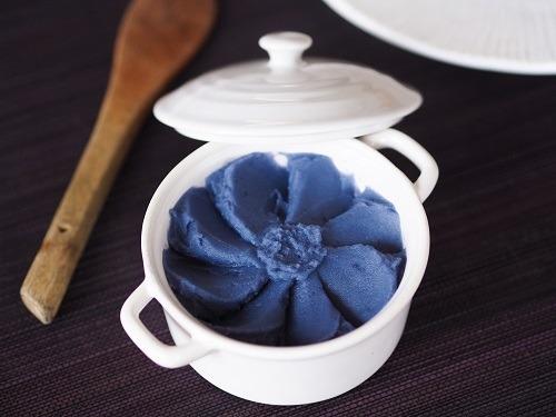 puree violette de pommes de terre vitelotte