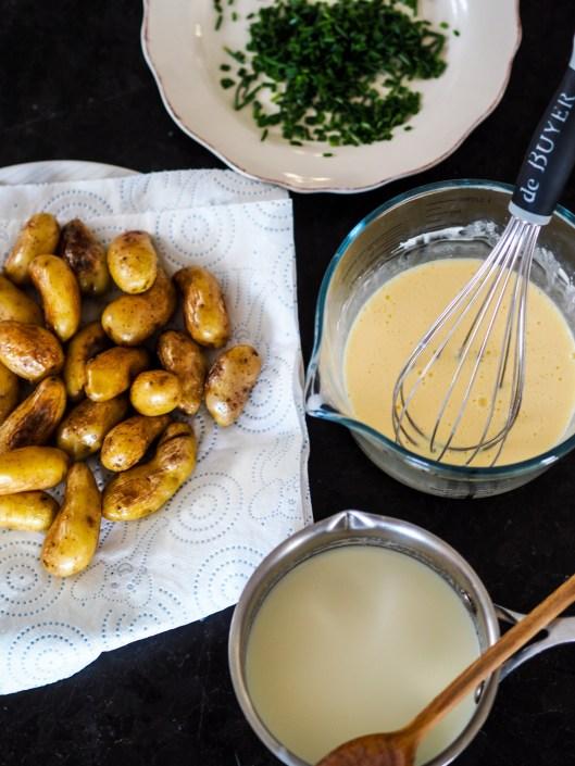 préparations pour le gratin de pommes de terre