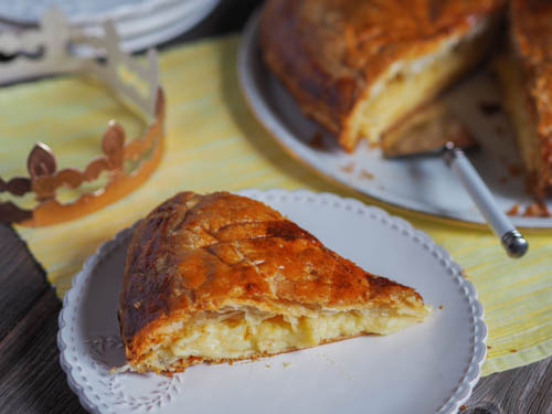 French galette des rois Epiphany king cake with lemon filling
