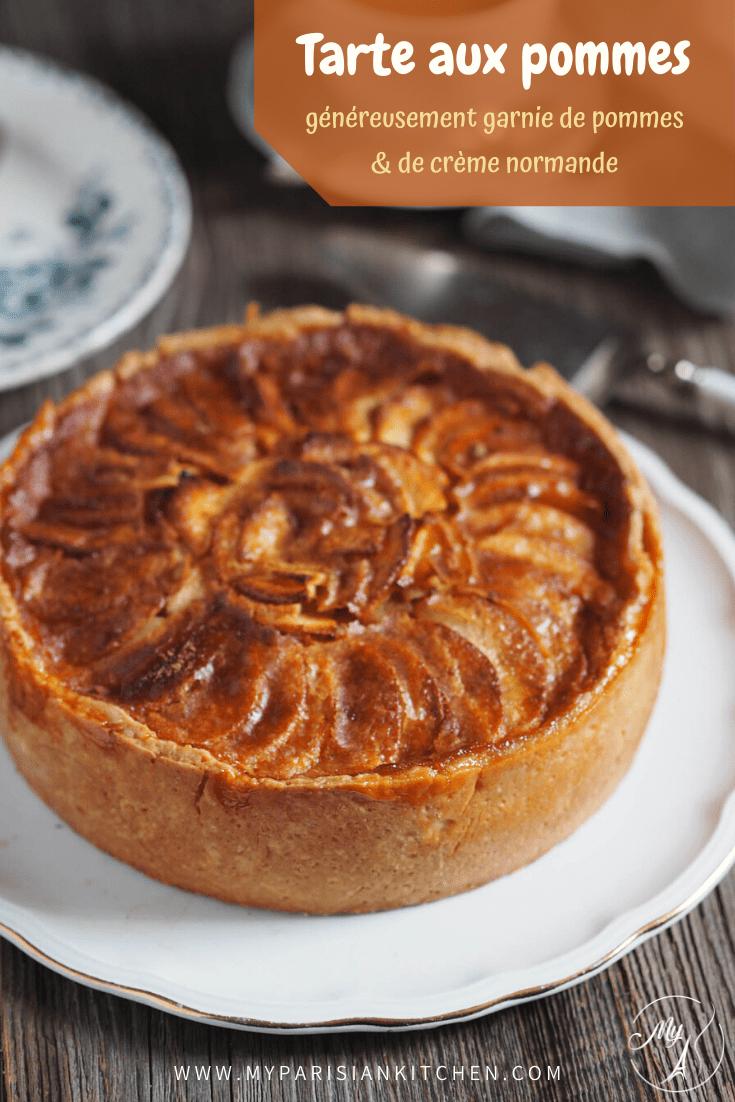 tarte aux pommes façon grand mère, crème normande