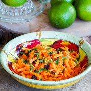 Grated carrots inspired from French chef Alain Passard