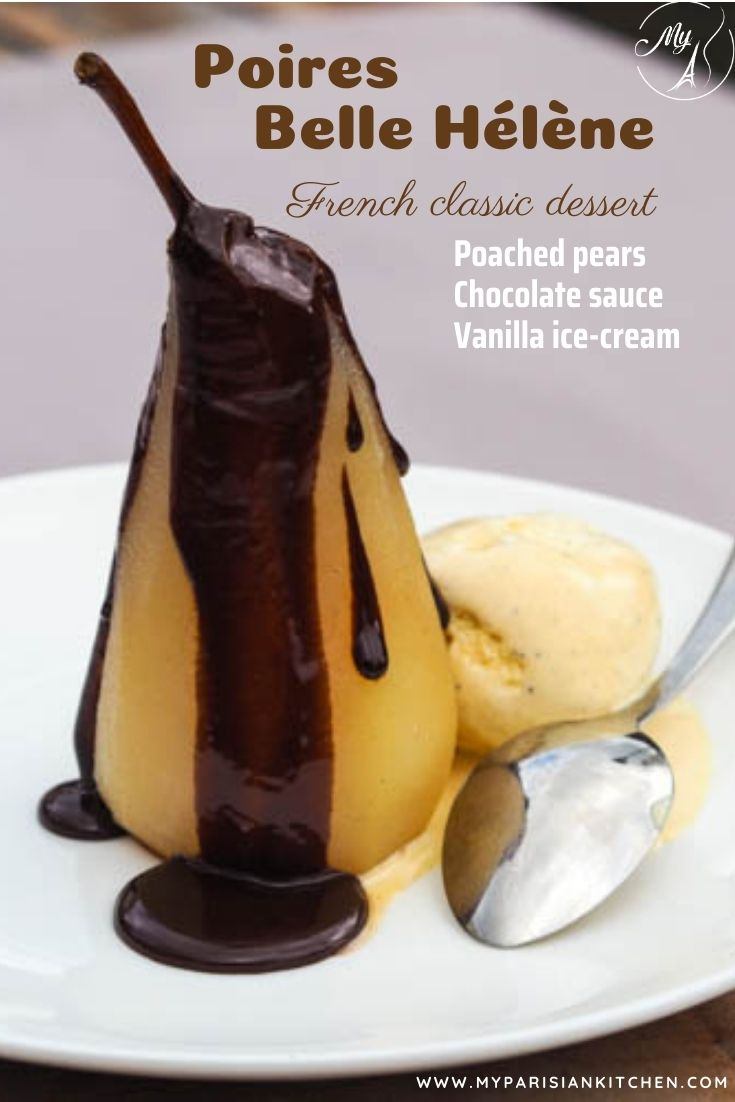pear belle helene 法文 classic dessert