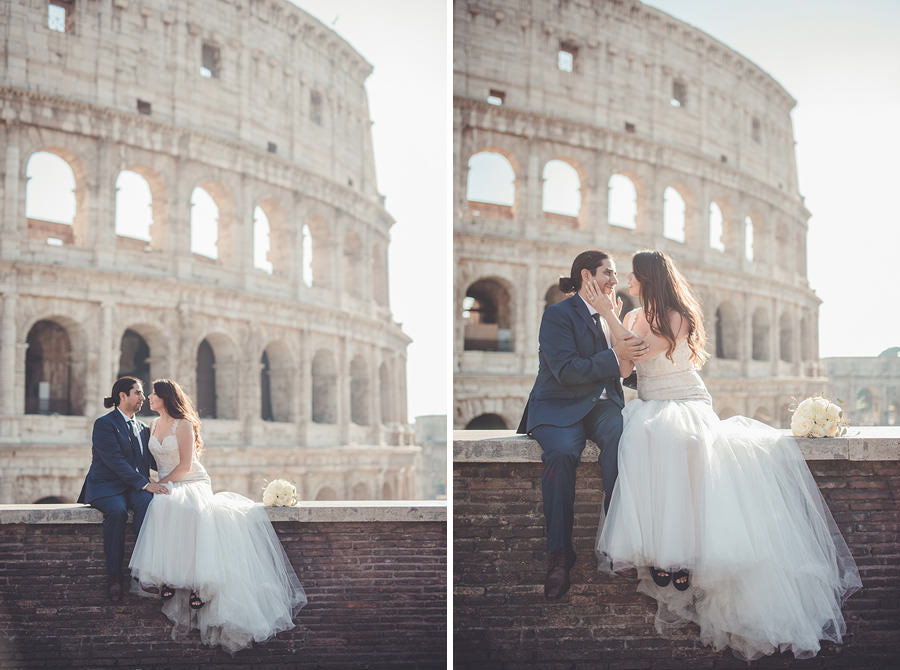 elopement and photoshoot in rome