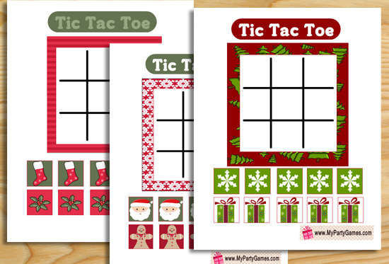Free Printable Tic Tac Toe Game for Christmas