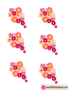 Free Printable Flower Bouquets for Game