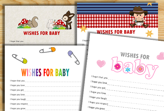 Free Printable Wishes for Baby Cards