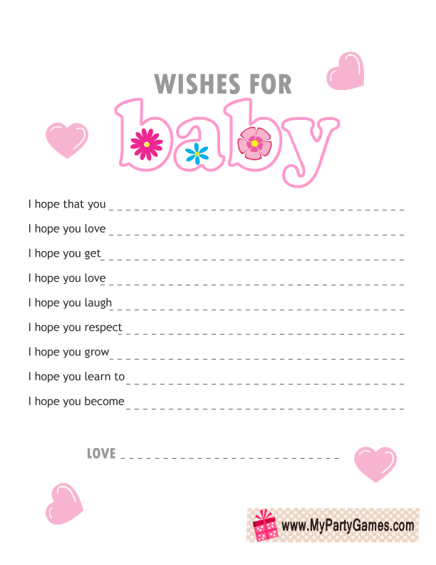 free printable wishes for