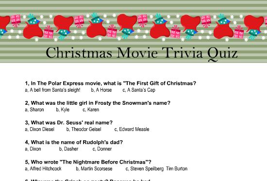 Christmas Trivia Printable.Christmas Trivia Quiz With Answers Thecannonball Org