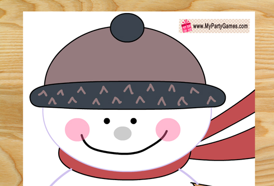 Free Printable Pin the Nose on the Snowman Game