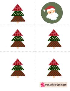 Who got the Santa? Free Printable Christmas Game