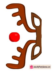 Free Printable Reindeer Photo Booth Prop