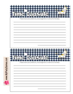 Free Printable Baby Time Capsule Cards