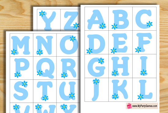 Free Printable Baby Shower Alphabet Introduction Game (Ice Breaker)