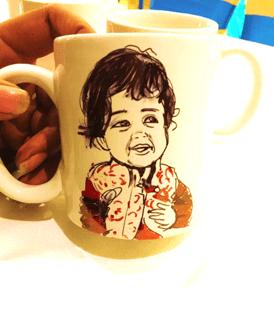 Mug caricature artist in Bangalore