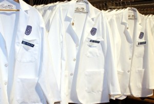 white coats are for medical students