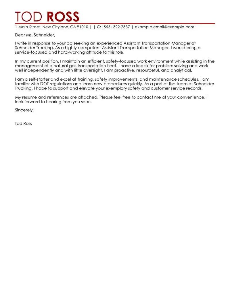 Cover Letter Sample Director Position
