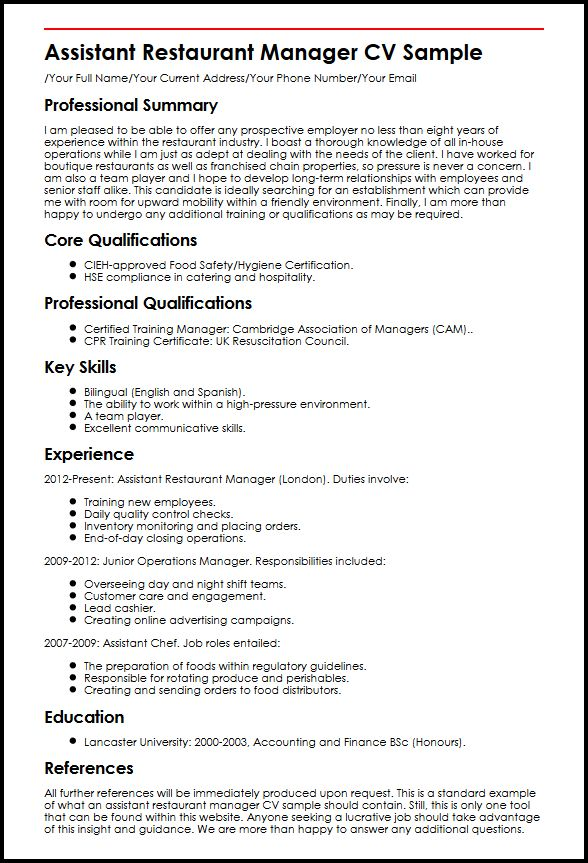 finance operations manager resume sample