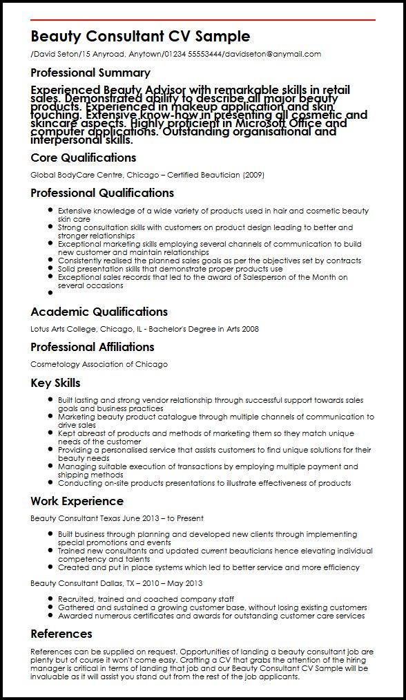 cv profile examples uk