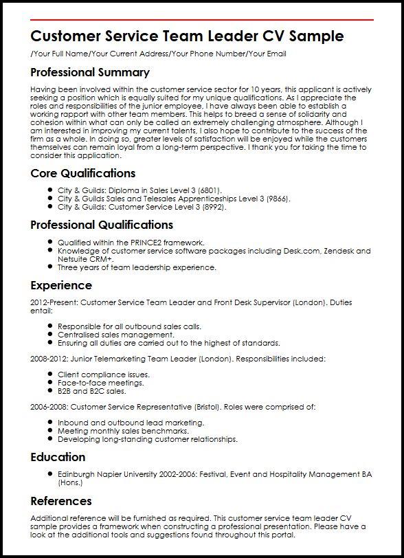job description of a cashier team leader for resume
