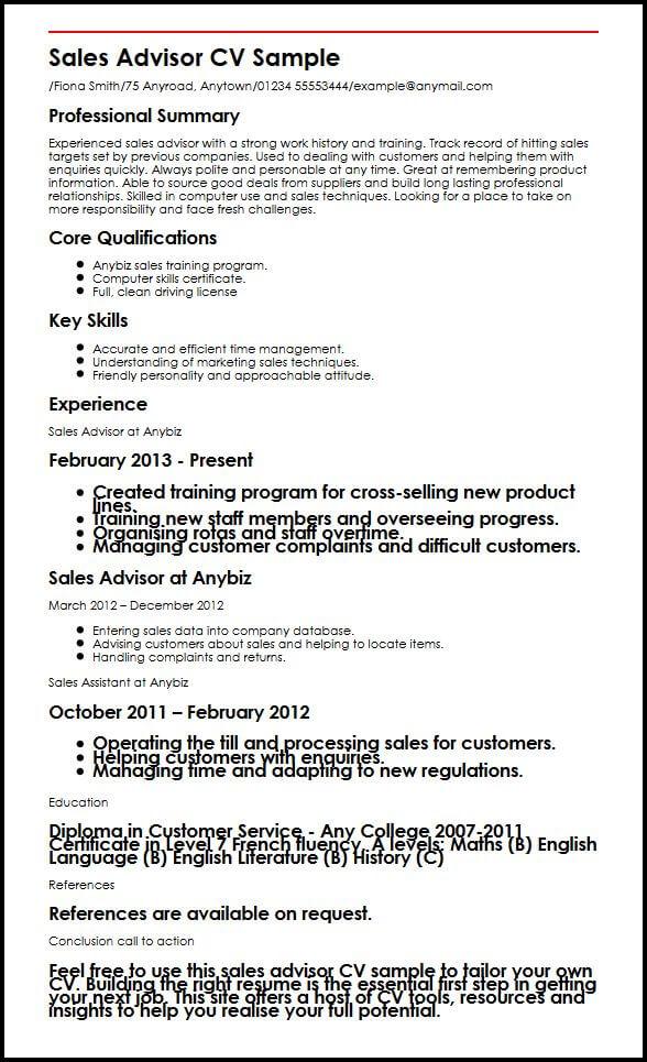 perfect retail resume example