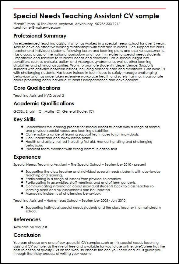 education assistant resume examples australia