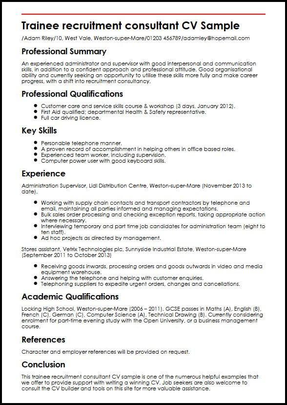 recruitment manager cv
