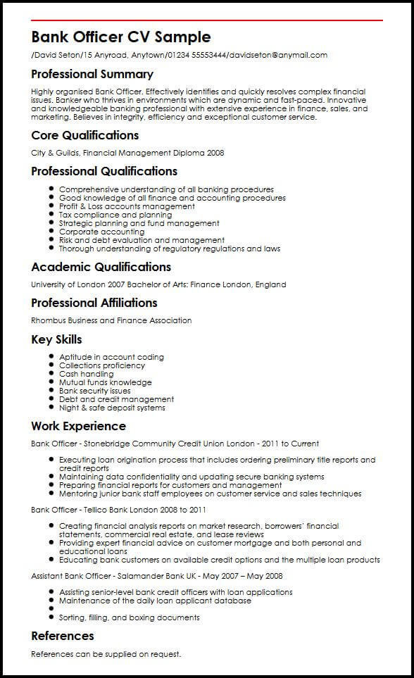 bank account manager resume sample