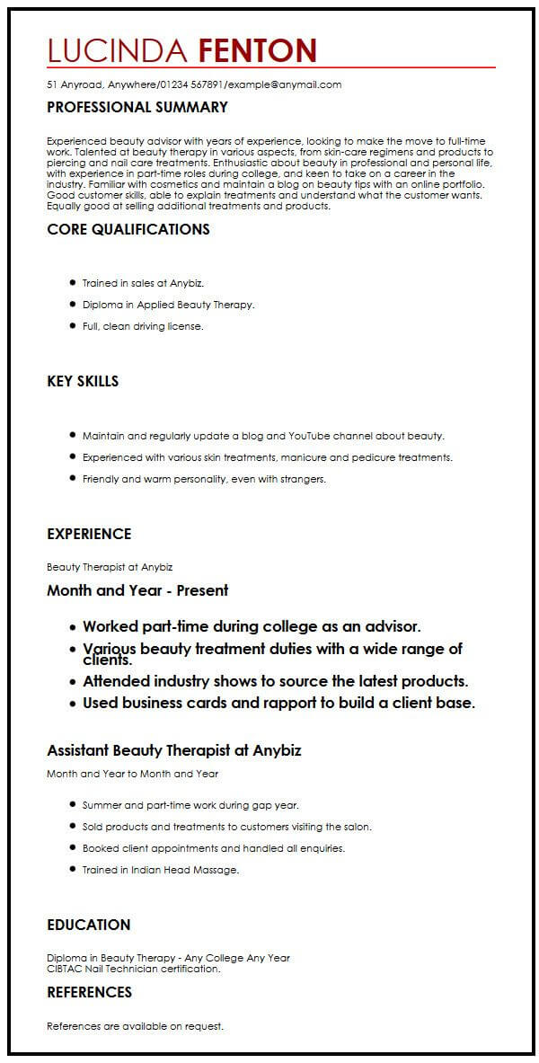 examples of resumes with gap