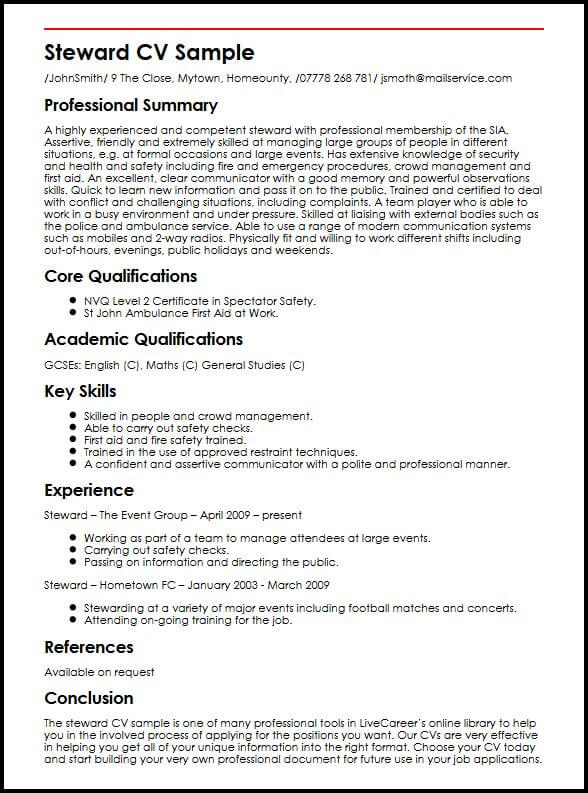 example of pt resume