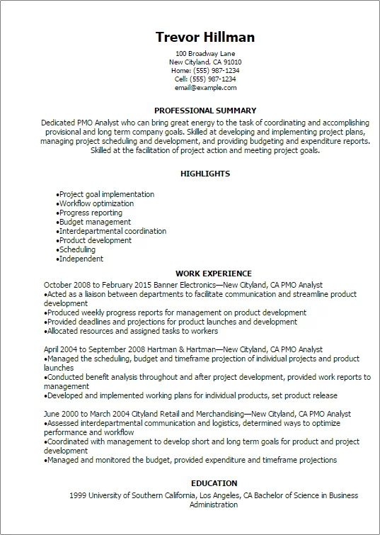 perfect resume for first job