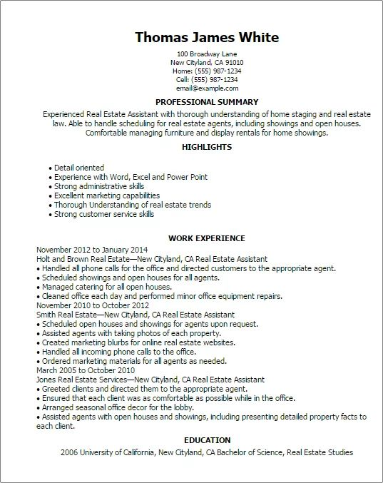 home staging assistant resume sample