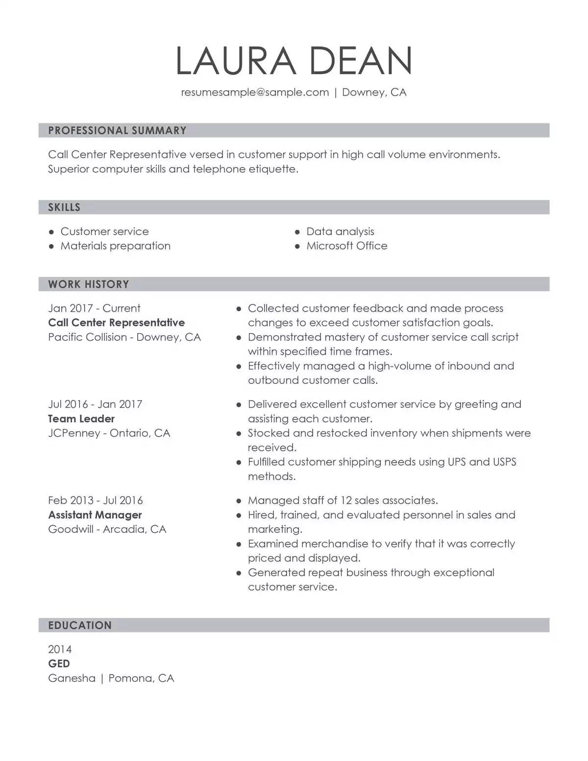 Customer Service Representative Examples  Samples